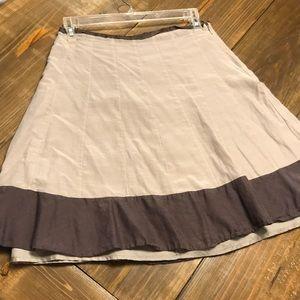 Banana Republic grey silk skirt
